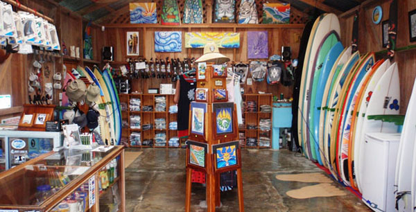 Surf clothing store
