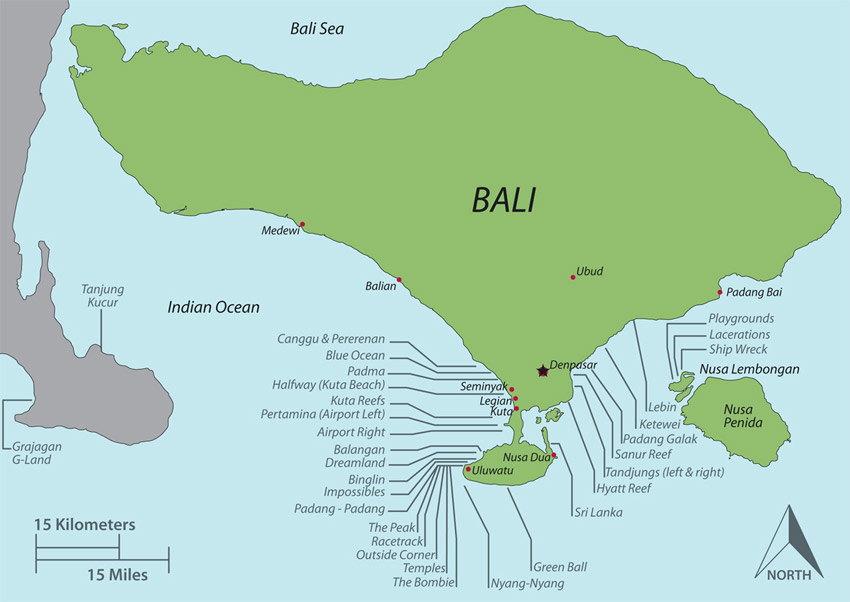 Bali Surf Map