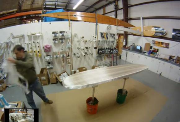 Glass A Wood Surfboard